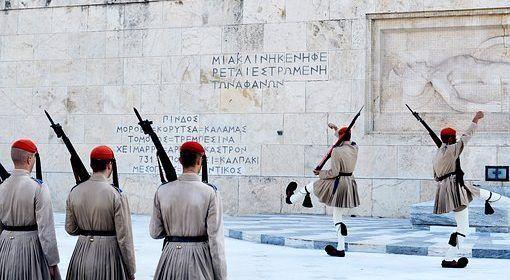 Gigantes gallardos en la Guardia Presidencial griega