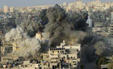 Tensa calma, cese del fuego, siguen a choques Hamas-Israel