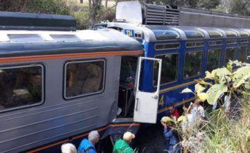 Choque de trenes en Perú deja varios heridos