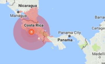 Sismo de magnitud 6,1 remece el sur de Costa Rica
