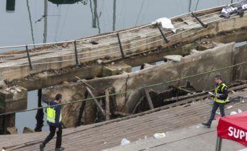 Colapso de paseo marítimo deja 313 heridos en Vigo, España