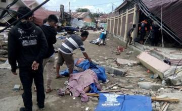 Aumenta a 384 el balance de muertos por los terremotos y el tsunami en la isla indonesia de Célebes