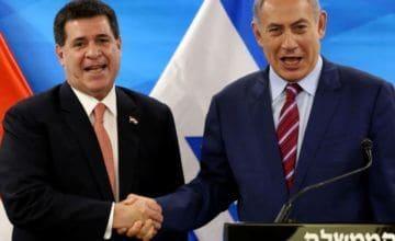 Paraguay anuncia traslado de su embajada a Tel Aviv, Israel cierra la suya
