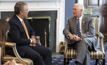 Duque y Pence acordaron plan contra el narcotráfico