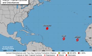 Florence pudiera convertirse en poderoso huracán y amenaza el sureste de EEUU