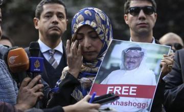 """Novia de Khashoggi pide a Trump que evite el """"encubrimiento"""""""