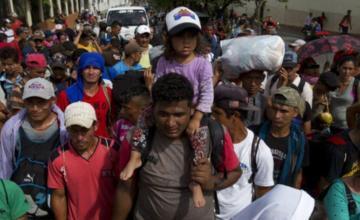 Caravana migrante acuerda salir de Ciudad de México rumbo a EEUU