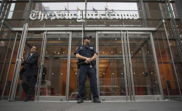 """Donald Trump: La historia del NYT sobre las bases de misiles de Corea del Norte """"Más noticias falsas"""""""
