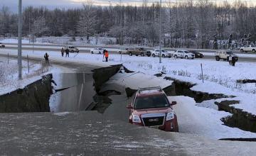 Sismos consecutivos dañan caminos en Alaska