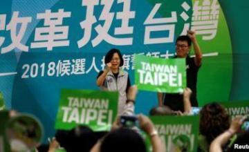 Taiwaneses protestan para exigir menos impuestos