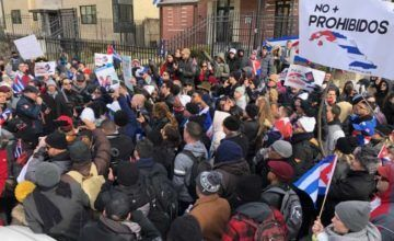 Marcha de los Prohibidos: cubanos protestan frente a embajadas del régimen