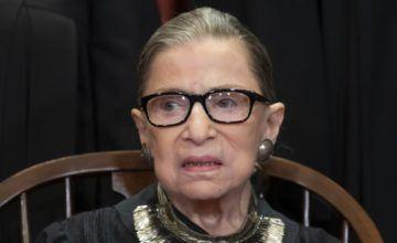 Ginsburg falta a audiencias de la Corte Suprema por primera vez