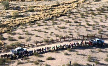 Detenidos 103 centroamericanos en frontera en Arizona