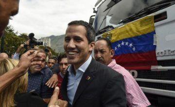 Guaidó prevé partir en caravana a la frontera con Colombia