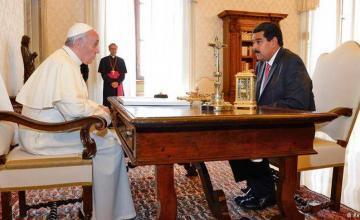 "Diario: Papa dice a Maduro que ""incumplió acuerdos"""