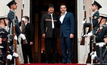 Evo Morales y Alexis Tsipras piden diálogo en Venezuela