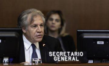 """Almagro insta a actuar ante la """"guerra sucia"""" que sacude Venezuela"""