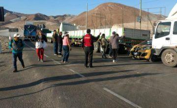 Habilitan corredor vial para transporte de insumos y pasajeros ante bloqueo en la Panamericana