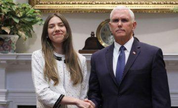 Mike Pence se reúne con esposa de Guaidó en la Casa Blanca
