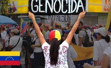 Facciones rivales se manifiestan en Venezuela