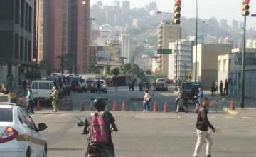 Cerraron los accesos a la sede del Sebin en Plaza Venezuela