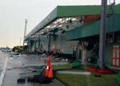 Tormenta local severa causa daños en aeropuerto internacional de Santa Clara, Cuba