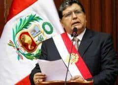 El expresidente Alan García se disparó al ser detenido