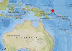 Sismo de 7,7 en Papúa Nueva Guinea. El epicentro se localizó a 28 km de la ciudad de Kokopo, con una profundidad de 10 km