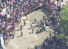 Un tiroteo provoca el pánico en plena celebración de los Toronto Raptors
