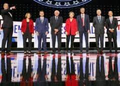 Candidatos moderados critican a Sanders y Warren en debate demócrata en EEUU