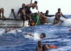 Naufraga barco con 86 migrantes en el Mediterráneo