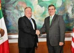 Pompeo reconoce esfuerzos de México y El Salvador en combatir migración ilegal