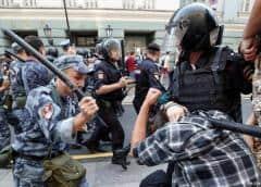 ONU critica uso de la fuerza contra manifestantes en Rusia