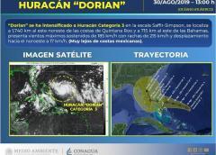 "Dorian se convierte en un ""extremadamente peligroso"" huracán de categoría 3 mientras se dirige a Florida"