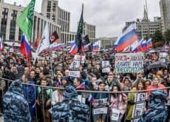 Casi 50.000 manifestantes piden elecciones libres en Moscú