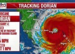 Huracán Dorian pierde fuerza en Bahamas y pasa de categoría 5 a 4