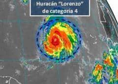El huracán Lorenzo se fortalece levemente y Karen se hace más lenta