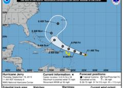 El Caribe está bajo alerta por tormenta Jerry. Humberto se mantiene como un poderoso huracán