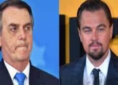 Bolsonaro culpa a DiCaprio de incendios en la Amazonía