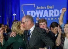 Luisiana reelige gobernador demócrata Edwards en revés para Trump