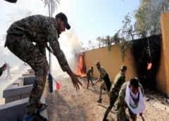 Centenares de manifestantes irrumpen en la embajada estadounidense en Bagdad