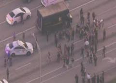 Rinden tributo a chofer de UPS que murió en asalto final tras persecución policiaca