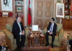 Mike Pompeo se reunió con el máximo jefe policial en su visita a Marruecos
