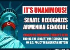 El Congreso de EEUU reconoce formalmente el genocidio armenio