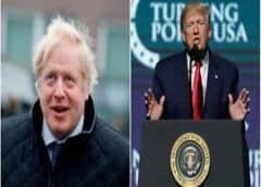 Trump invita Johnson a la Casa Blanca en el nuevo año según medios británicos