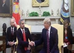 Trump recibe al presidente de Paraguay Mario Abdo Benítez en la Casa Banca