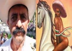 Este cuadro de Zapata siembra la discordia en México: amenazan con quemarlo