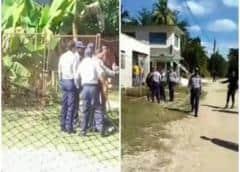 La policía golpea a un hombre desnudo en Santiago de Cuba