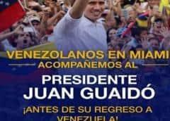 Guaidó visitará a venezolanos en Miami el sábado