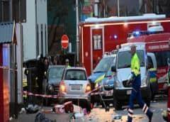 52 heridos en el atropello masivo en Alemania, 18 son niños